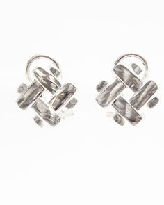 Pendientes plata con cierre omega Cufflinks, Accessories, Rings, Jewels, Ornament