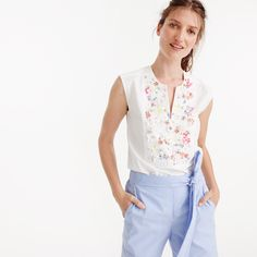 Collection Thomas Mason® for J.Crew embellished sleeveless top