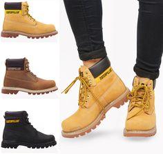 Mens Boots Fashion, Fashion Shoes, Fashion Accessories, Cat Shoes, Shoe Boots, Shoe Bag, Botas Casual, Caterpillar Shoes, Fashion Vestidos