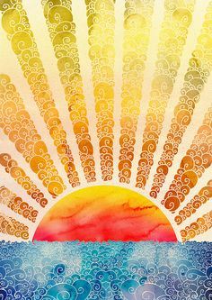 ⚓ Beautiful art! Rays of the Sun and the Sea. #art #sun #ocean