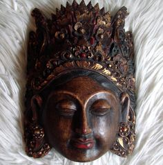 Exquisite Hand Carved Balinese Mask of by AntiqueAlchemists, $75.00