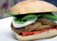 TraderJoes eggplant cutlet sandwich recipe