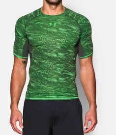 Men's UA HeatGear® Armour Printed Short Sleeve Compression Shirt | Under Armour US