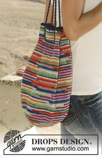 """Sombrero y bolso DROPS, en ganchillo, en """"Muskat Soft"""". ~ DROPS Design"""