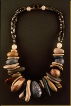 Necklace | Tory Hughes. Polymer Clay  adapt colors to enhance any outfit!