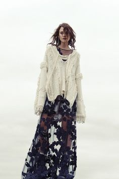 love this chilly spring folk grungy contemporary style look , there is an excuse and way that you can wear that tatty old jumper you love and don't want to throw away after all alice , Tied at the Neck