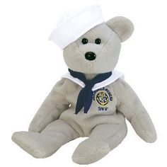 TY Beanie Baby - RONNIE the Sailor Bear (USA Exclusive). This is the perfect gift for the Navy valentine! This little bear looks so adorable with his sailor hat and scarf!