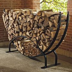 Steel Log Racks - traditional - fireplace accessories - FRONTGATE