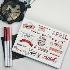 50 Header Ideas by Month for Your Bullet Journal Bullet Journal School, Bullet Journal Inspo, Bullet Journal Headers, Bullet Journal Banner, Bullet Journal Aesthetic, Bullet Journal Notebook, Bullet Journal 2019, Bullet Journal Ideas Pages, Bullet Journal Spread