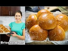This buttery brioche bun recipe is so fluffy and perfect for any burger or sandwich. The moment you sink your teeth into the brioche rolls you'll fall in lov. Brioche Rolls, Brioche Bread, Brioche Bun, Brioche Recipe, Croissant Recipe, Pain Burger, Burger Buns, Bread Recipes, Recipes