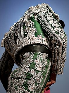 ornate #embroidery on #bullfighting costume l #Spain