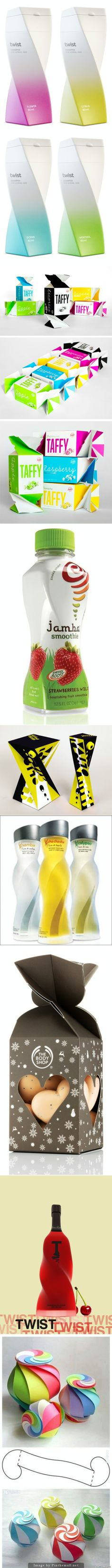 Let's do the twist #packaging curated by Packaging Diva : ) PD created via http://pinterest.com/packagingdiva