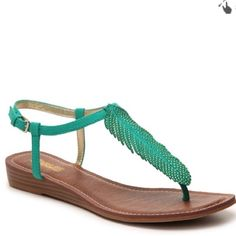 Turquoise Feather Sandal NWT Shoes Sandals