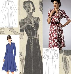Just Skirts and Dresses: a contemporary, early 40's style sewing pattern!