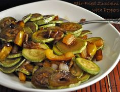 Stir-Fried Zucchini with Yellow Peppers Recipe on Yummly