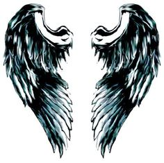 little angel wing tattoo | Pin Little Angel Wings Tattoo Large Gallery Of Tribal Designs on ...