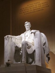 Abraham Lincoln Memorial by Daniel Chester 1920 In true form,3D, standing 19 feet tall in marble and limestone is a fabulous example of form