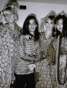 Marc Jacobs aged 22, with models at a 1985 party.