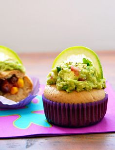 burrito cupcakes with guacamole frosting due