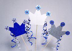 Frozen Party Crowns, Winter party decorations, Princess party centerpiece