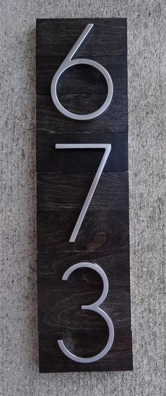 While house numbers may seem like the simplest of detail, the combination of style and materials used will give a sleek look from every angle,