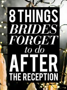 10 Things To Avoid the Night Before Your Wedding Wedding