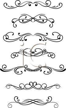 Swirls Clipart Selection