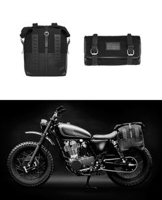 This stylish motorcycle bag is a collaboration between the Danish custom motorcycle builders the Wrenchmonkees and Sandqvist. Created using heavy, durable 18oz cotton canvas with details in black tooling leather. Roll top closure with adjustable shoulder straps that can be concealed in a pocket on the back. The bag has one inner pocket and a padded laptop pocket that fits a 15 inch laptop. Love the matching tool roll too!