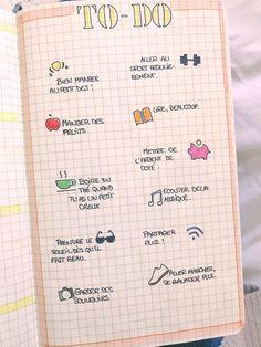 Liste «To do» pour l'arrivée des beaux jours. Bujo, Notebook, Bullet Journal, Inspire, Souvenir, Drinking Tea, One Fine Day, The Notebook, Exercise Book