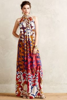 NWT Anthropologie Lorna Silk Maxi Dress by Roopa Pemmaraju - Floral Size Ethno Style, Love Fashion, Womens Fashion, Dress Fashion, Emo Fashion, Estilo Boho, Trends 2018, Mode Inspiration, African Dress