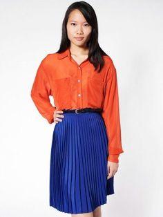 American Apparel Pleated Skirt $54.00