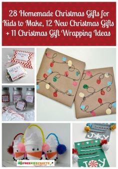 28 Homemade Christmas Gifts for Kids to Make, 12 New Christmas Gifts + 11 Christmas Gift Wrapping Ideas Christmas Crafts For Toddlers, Christmas Crafts For Gifts, Toddler Christmas, Homemade Christmas Gifts, Christmas Gift Wrapping, Christmas Projects, Homemade Gifts, Craft Gifts, Holiday Gifts