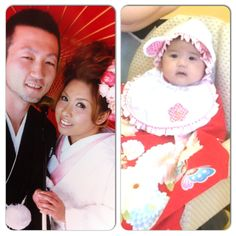 In our Kimonos. During our wedding pictorial & Riri 100 days celebration.