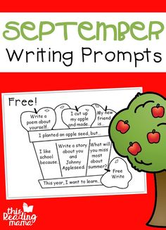 FREE September Writing Prompts - Write and Color - This Reading Mama 1st Grade Writing, Pre Writing, Writing Workshop, Teaching Writing, Writing Prompts, Teaching Kids, Kindergarten Writing, Writing Ideas, Literacy