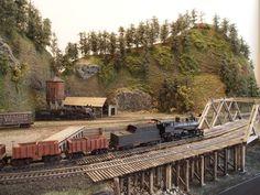 "Mt. Coffin & Columbia River - 23""x41"" n-scale layout   Model Railroad Hobbyist magazine"