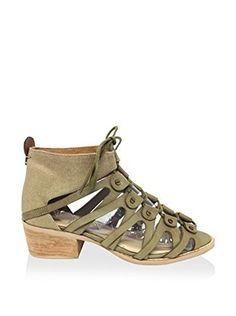 Von Dutch Women's Tightenup Sandal (Khaki)