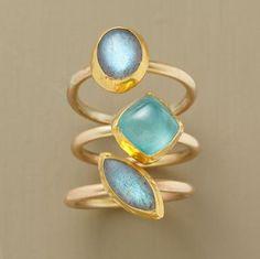 ARCHIPELAGO RING SET        -                Stack Rings        -                Rings        -                Jewelry                    | Robert Redford's Sundance Catalog