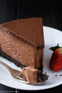 This Nutella Cheesecake tastes like it came from a gourmet bakery. It's decadent, creamy, and full of Nutella flavor!! by elva