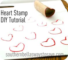 Heart Stamp DIY Craft Tutorial