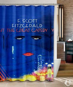 The Great Gatsby Cover Book Cute Shower Curtain