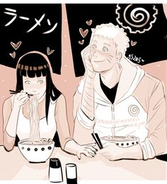 ☆ ゚。 * 。*★ Naruto and his two favorite things <3