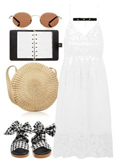 """""""Untitled #1050"""" by veronice-lopez ❤ liked on Polyvore featuring Sea, New York, Marques'Almeida, Bartoli, Oliver Peoples and Mulberry"""
