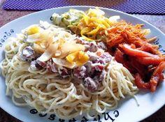 Espaguete com Legumes Salteados