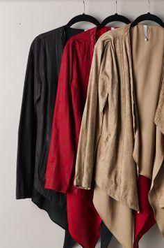 Tribeca Exchange | Leather Jacket http://tribecaexchange.com/catalog/leather-jacket-with-chiffon-contrast-p-11.html