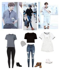 """Bts jungkook's outfits"" by mochichimchim ❤ liked on Polyvore featuring Vans, Ted Baker, Chanel, Converse, Isabel Marant, Sacai and Lands' End"