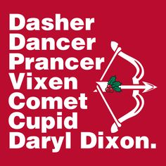 """""""Santa's Helper"""" T-shirt by Fishbiscuit Designs. Funny Walking Dead Daryl Dixon zombie Christmas tee for men, women, and kids."""