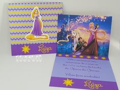 Convite Rapunzel  :: flavoli.net - Papelaria Personalizada :: Contato: (21) 98-836-0113 - Também no WhatsApp! vendas@flavoli.net