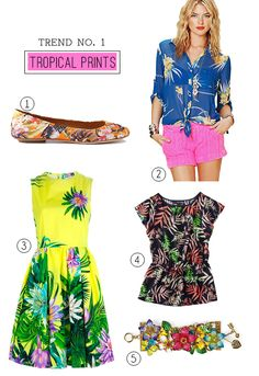 tropical print trend (great fashion blog too!)