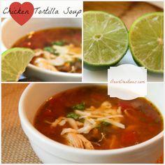 Easy Chicken Tortilla Soup, DearCreatives.com, collage,Theresa Huse 2013