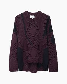 3.1 Phillip Lim  Pointelle Cable Intarsia Knit